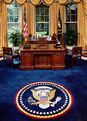as you can see all three rugs have the presidential seal of the united states bill clinton oval office rug